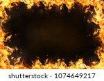 fire  flames  frame   Shutterstock . vector #1074649217