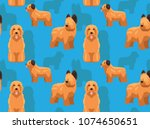 dog briard cartoon background...   Shutterstock .eps vector #1074650651