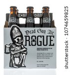 Small photo of Winneconne, WI - 20 April 2018: A six pack of Dead guy ale rogue beer on an isolated background.