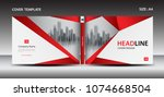 red cover design template for... | Shutterstock .eps vector #1074668504