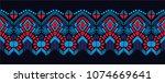 ikat geometric folklore... | Shutterstock .eps vector #1074669641