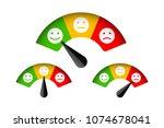 customer satisfaction meter... | Shutterstock .eps vector #1074678041