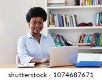 beautiful african american...   Shutterstock . vector #1074687671