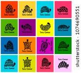 turtle logo set for your design   Shutterstock .eps vector #1074690551