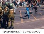 santiago  chile   april 19 ... | Shutterstock . vector #1074702977