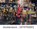 santiago  chile   april 19 ... | Shutterstock . vector #1074703001