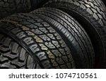 car tire background   Shutterstock . vector #1074710561