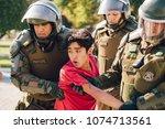 santiago  chile   april 19 ... | Shutterstock . vector #1074713561
