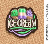 vector logo of italian ice...   Shutterstock .eps vector #1074715187