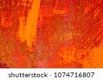metal rust background metal... | Shutterstock . vector #1074716807