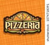 vector logo for italian... | Shutterstock .eps vector #1074718391