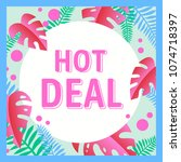 hot deal banner design for ... | Shutterstock .eps vector #1074718397