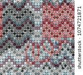 tiled seamless pattern. tile ... | Shutterstock . vector #1074721871