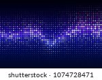 abstract cyber space... | Shutterstock .eps vector #1074728471