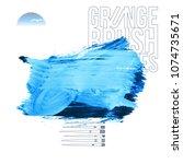 blue brush stroke and texture.... | Shutterstock .eps vector #1074735671