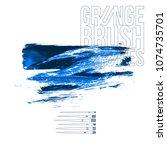 blue brush stroke and texture....   Shutterstock .eps vector #1074735701