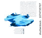 blue brush stroke and texture.... | Shutterstock .eps vector #1074735707