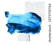 blue brush stroke and texture.... | Shutterstock .eps vector #1074735764