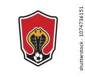 cobra emblem logo for football... | Shutterstock .eps vector #1074736151