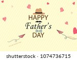 happy fathers day template... | Shutterstock .eps vector #1074736715