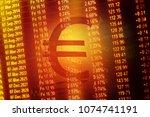 world economics graph. finance... | Shutterstock . vector #1074741191
