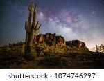 A Starry Night Time Desert...