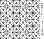 romantic black and white... | Shutterstock .eps vector #1074748544