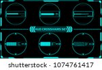 hud futuristic elements... | Shutterstock .eps vector #1074761417