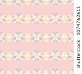 floral pale pink seamless... | Shutterstock .eps vector #1074762611