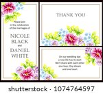 invitation with floral... | Shutterstock .eps vector #1074764597