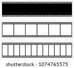 film strip collection. vector... | Shutterstock .eps vector #1074765575