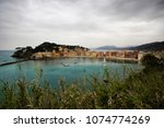 sestri levante in winter on the ... | Shutterstock . vector #1074774269