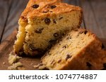 slices of home made cake with... | Shutterstock . vector #1074774887