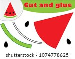 watermelon in cartoon style ...   Shutterstock .eps vector #1074778625