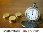 vintage golden pocket watch... | Shutterstock . vector #1074778934