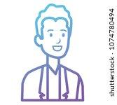 businessman avatar character... | Shutterstock .eps vector #1074780494