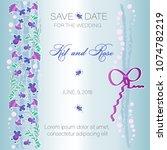 wedding invitation. decorative... | Shutterstock .eps vector #1074782219
