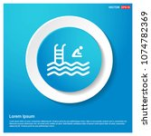 swimming icon abstract blue web ... | Shutterstock .eps vector #1074782369