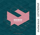 vector business geometric... | Shutterstock .eps vector #1074785969
