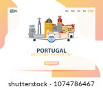 portugal. travel banner or web...