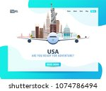 usa. travel banner or web...