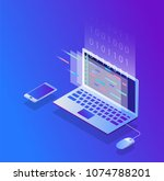 programming and coding  website ... | Shutterstock .eps vector #1074788201