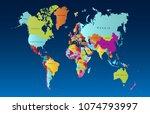 color world map vector | Shutterstock .eps vector #1074793997
