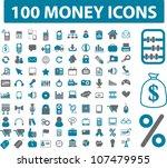 100 money   related icons set ... | Shutterstock .eps vector #107479955
