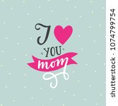 greeting card with hand drawn... | Shutterstock .eps vector #1074799754