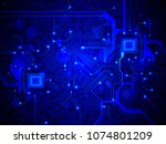 high tech electronic circuit... | Shutterstock .eps vector #1074801209