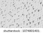 abstract geometric shape of... | Shutterstock . vector #1074801401