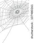 isolated spider web or cobweb... | Shutterstock .eps vector #107480261