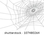 isolated spider web or cobweb... | Shutterstock . vector #107480264