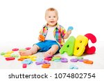 baby alphabet toys  child... | Shutterstock . vector #1074802754